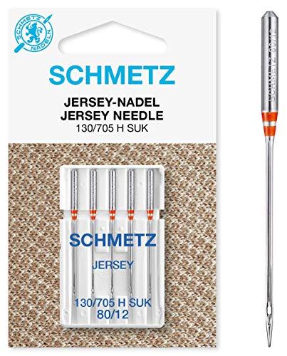 SCHMETZ Nähmaschinennadeln: 5 Jersey-Nadeln, Nadeldicke 80/12, 130/705...