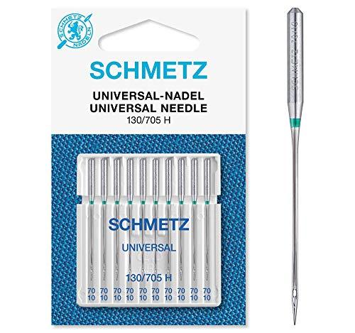 SCHMETZ Nähmaschinennadeln: 10 Universal-Nadeln, Nadeldicke 70/10, 130/705...