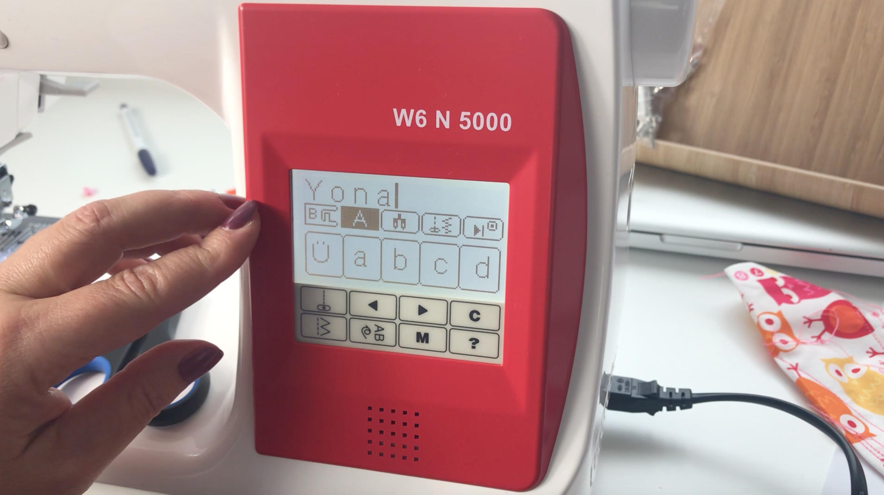 Stichprogramme einstellen W6 n 5000
